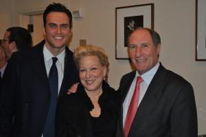 Bette Midler (center) with SF Symphony President John D. Goldman (right)