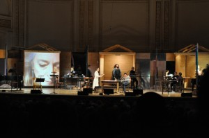 Meredith Monk (in white) and Jessye Norman (center) in John Cage's Song Books