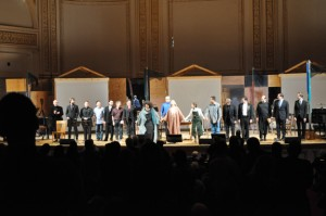 Michael Tilson Thomas and Jessye Norman, Joan La Barbara and Meredith Monk, with the SFS musicians after John Cage's Song Books