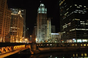 Chicago Tribune Tower and the Chicago River
